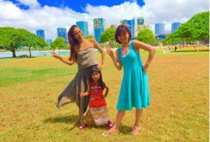 ハワイで親子フラクラス
