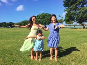 ハワイで親子フラレッスン